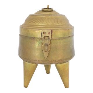 Antique Brass Betel Nut Box For Sale