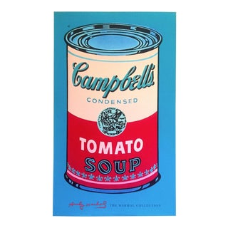 "Andy Warhol Foundation Lithograph Print Pop Art Poster "" Campbell's Soup Can ( Red & Pink ) "" 1965 For Sale"