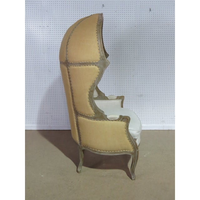 French Provincial French Provincial Style Porters Chair For Sale - Image 3 of 8