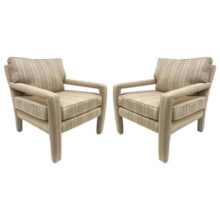 Pair Milo Baughman Lounge Chairs For Sale