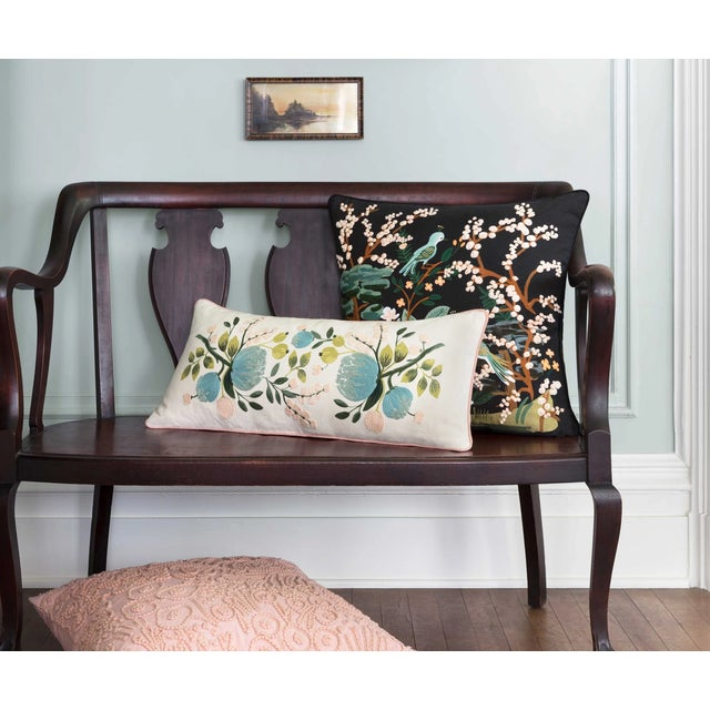 From our Rifle Paper Co. this pillow features elegant embroidery and brings the serenity of a Japanese garden into your...