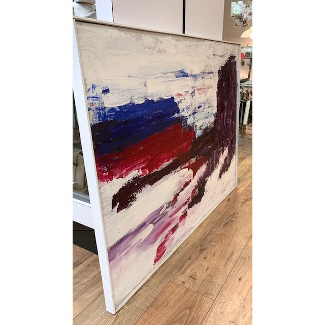 Large Mid Century Abstract Painting - Bright Landscape, Signed Boden For Sale - Image 4 of 10