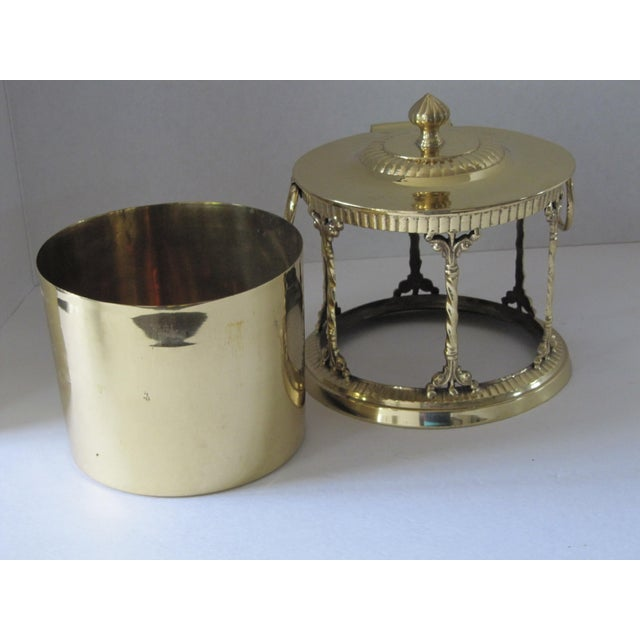 Brass Box With Attached Lid For Sale - Image 6 of 6