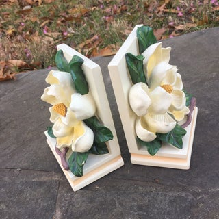 Vintage Magnolia Blossom Bookends - A Pair Preview