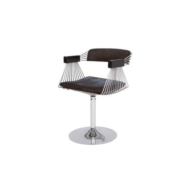 Rudi Verelst Space Age Swivel Armchairs in Chromed Steel For Sale - Image 6 of 12