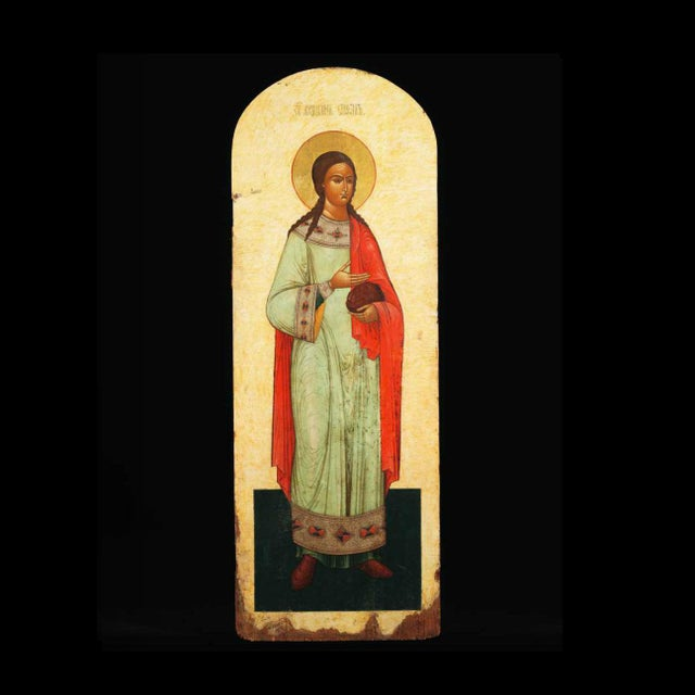 Religious Russian Icon of Saint Stephen For Sale - Image 3 of 3
