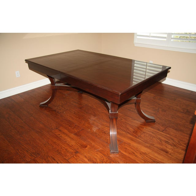 Mahogany Williams-Sonoma Home Solid Mahogany Dining Table For Sale - Image 7 of 10