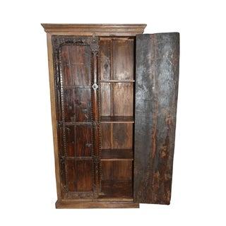 Antique Indian Furniture Spanish Colonial Dark Teak Wood Storage Wardrobe Preview