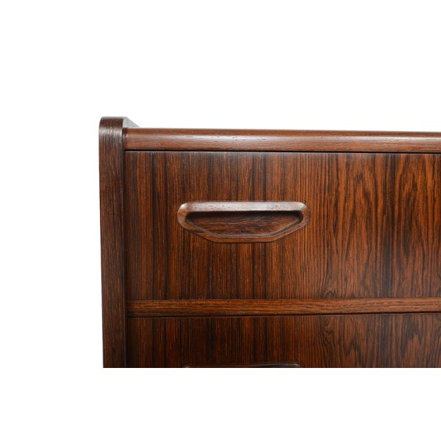 Danish Modern Two Drawer Rosewood Chest - Image 6 of 9
