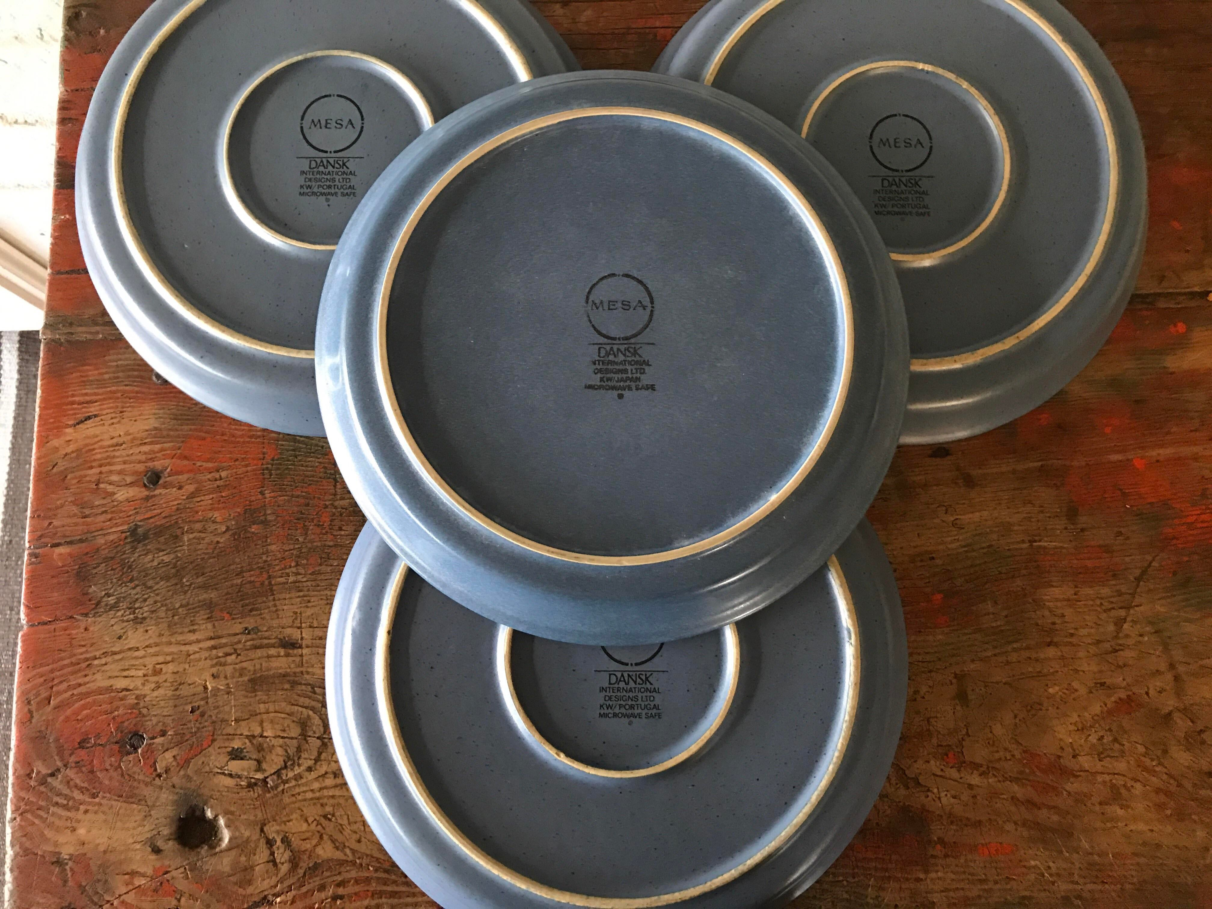 Dansk Mesa Blue Dinner Plates - Set of 4 - Image 4 of 7  sc 1 st  Chairish & Dansk Mesa Blue Dinner Plates - Set of 4   Chairish