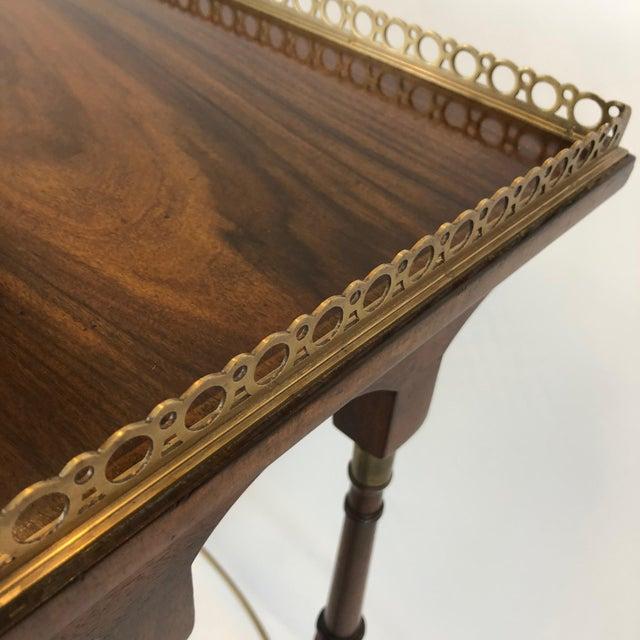 Wood Regency Zebra Wood Nesting Tables - Set of 3 For Sale - Image 7 of 13