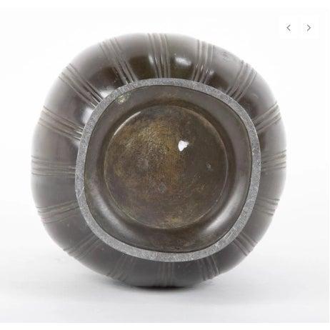 Just Andersen Pair of Just Andersen Disko Metal Patinated Vases For Sale - Image 4 of 6