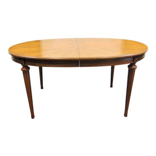 Henredon Louis XVI Style Fruitwood Dining Table For Sale