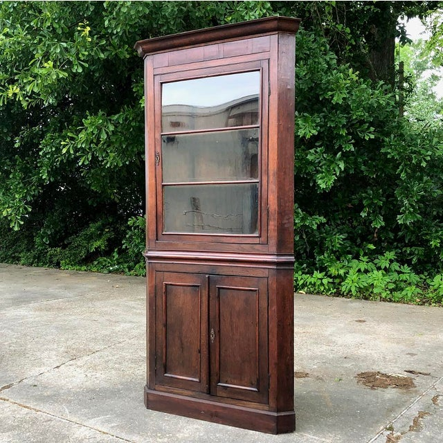 Neoclassical 19th Century French Louis Philippe Corner Cabinet For Sale - Image 3 of 13