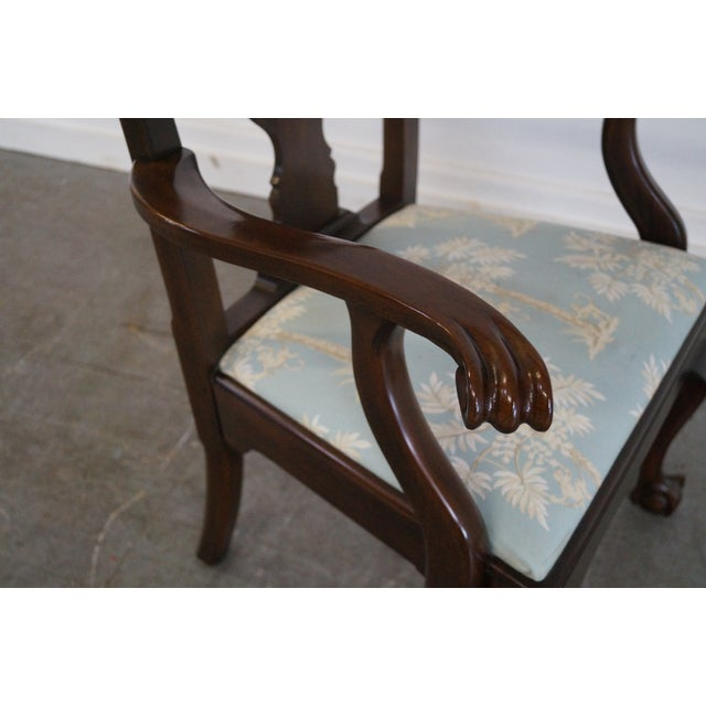 Henkel Harris Mahogany Chippendale Dining Chairs - Pair - Image 5 of 10