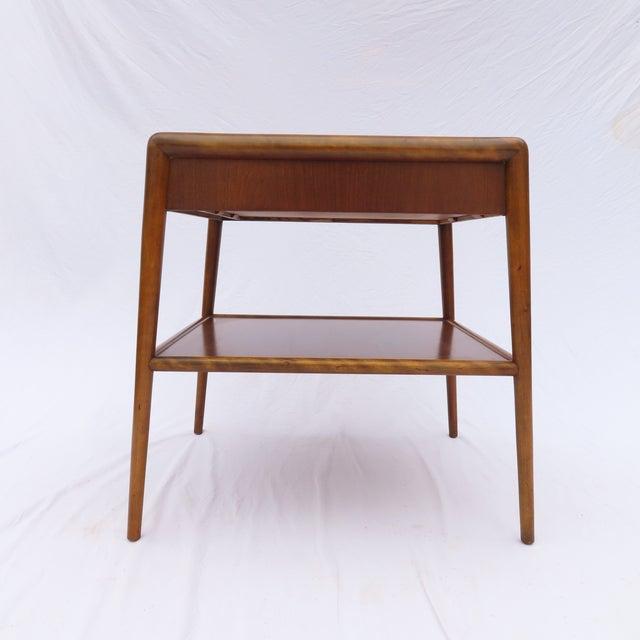 Widdicomb t.h. Robsjohn-Gibbings for Widdicomb Tapered Single Drawer Side Table For Sale - Image 4 of 10