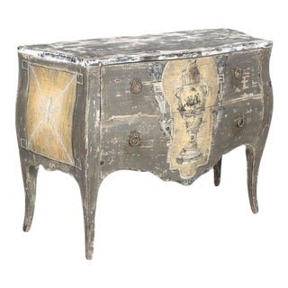 Antique French Louis XV Style Painted Commode Sauteuse For Sale