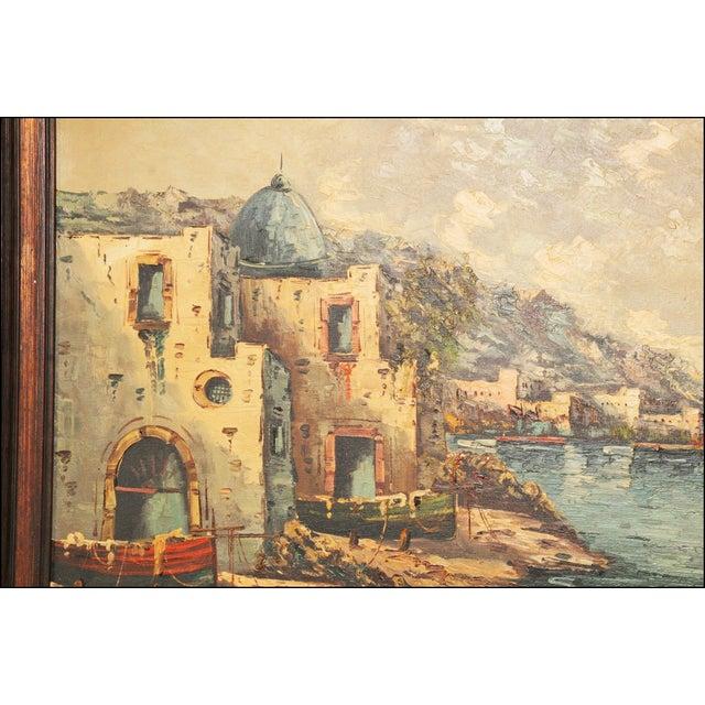 Vintage Impressionist Oil Painting of European Seascape - Image 7 of 11