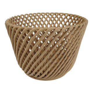 Woven Terracotta Basket For Sale