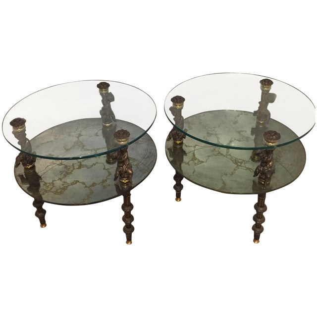 Hollywood Regency Side Tables - A Pair - Image 1 of 7