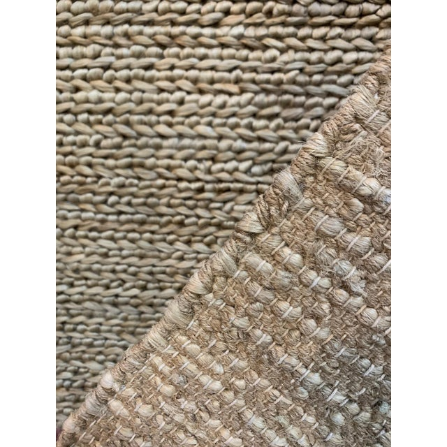 "Hand Woven Jute Rug-5' X 8'3"" For Sale In Atlanta - Image 6 of 7"
