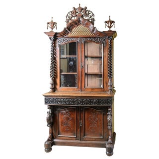 Mid 19th Century Italian Bookcase/Display Cabinet For Sale