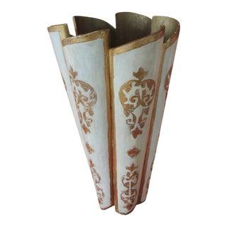 Vintage Florentine Gold Umbrella Stand For Sale