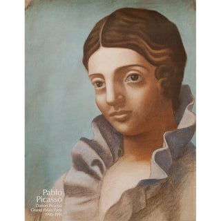 "1990 Pablo Picasso ""Portrait of Olga"", Grand Palais Paris Original Poster For Sale"