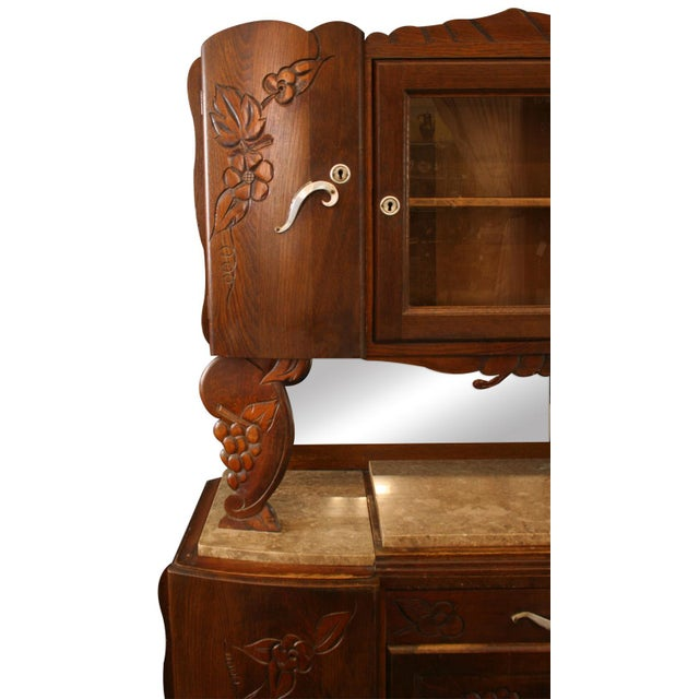 1920 French Art Deco Carved Grapes Buffet - Image 4 of 8