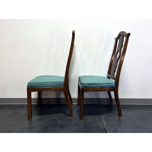 THOMASVILLE Mystique Asian Chinoiserie Dining Side Chairs - Pair 1 For Sale In Charlotte - Image 6 of 13