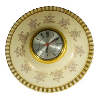 Vintage Porcelain Wall Clock For Sale