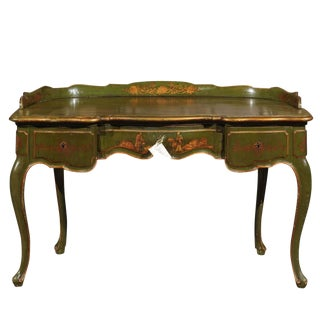 Antique 1900s Italian Chinoiserie Dressing Table