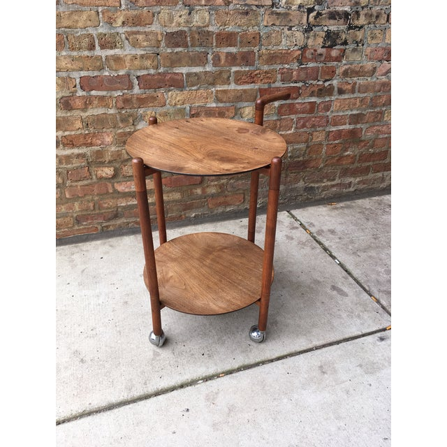 1960s 1960s Danish Modern Teak Serving Trolley With Removable Trays For Sale - Image 5 of 5