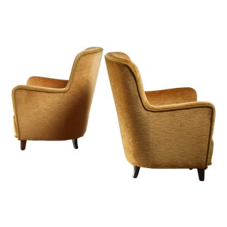 Pair of Easy Chairs by Birte Iversen, Denmark 1940s For Sale