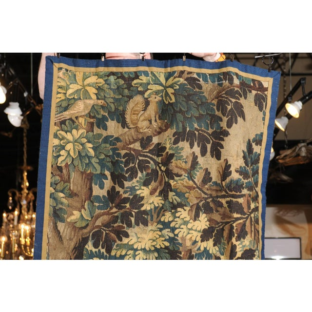 Pair of 19th Century French Handmade Vertical Tapestries with Pastoral Scenes For Sale - Image 4 of 12