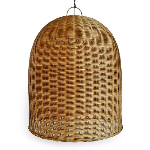 Tea stain wicker dome lantern in x-large size. Each may have slight variations in finish and handmade characteristics....