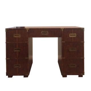 Heneredon Mid-Century Campaign Desk For Sale