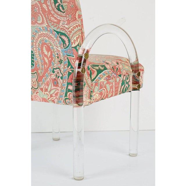 Pace Collection Lucite Waterfall Dining or Side Chairs, Circa 1980 For Sale - Image 9 of 11