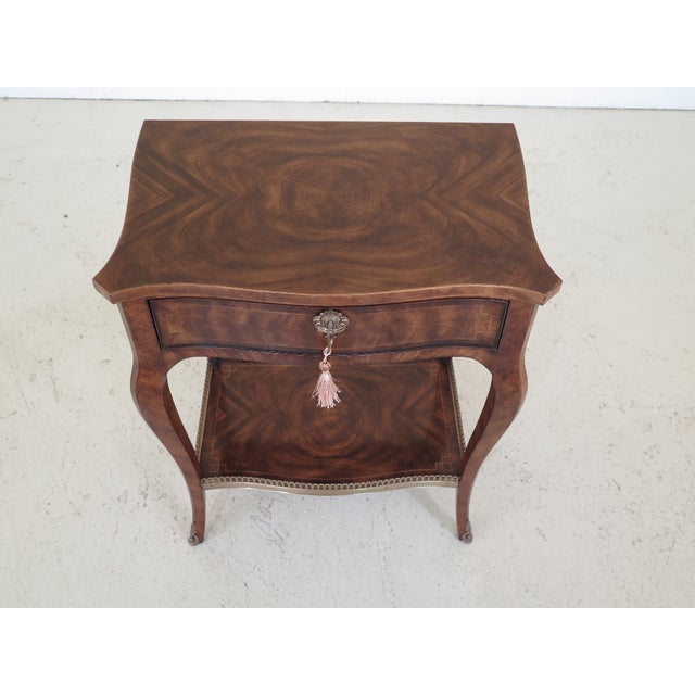 Item: Theodore Alexander French Louis XV Mahogany Nightstand Age: Approx: 5 Years Old Details: Dovetailed Drawer...