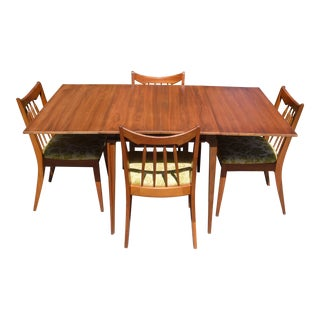 Vintage Mid Century Modern Red Lion Mahogany Dining Set - Set of 5 For Sale