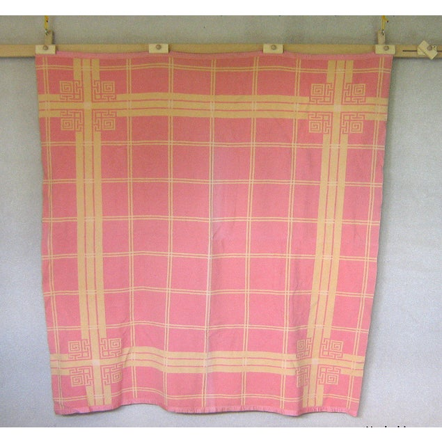 Vintage Pink & Orange Reversible Camp Blanket - Image 3 of 6