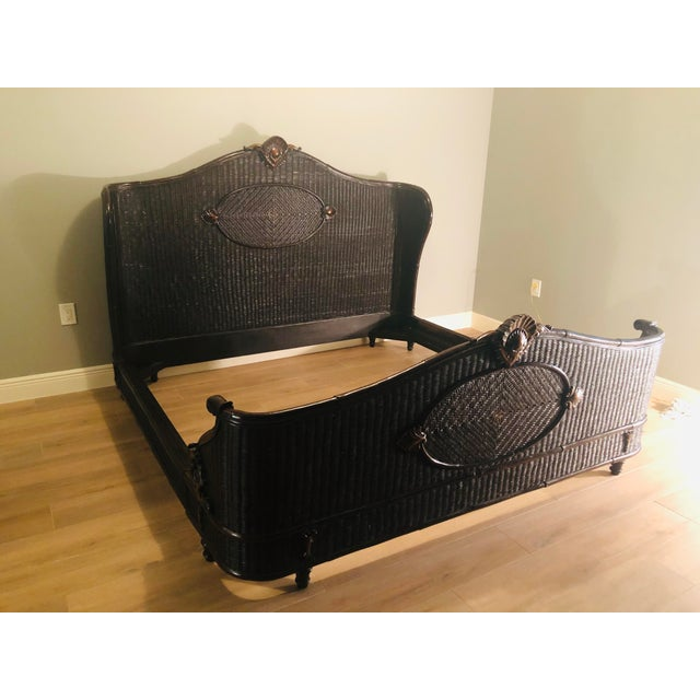 Country Ralph Lauren King-Sized Wicker and Wood Bedframe For Sale - Image 13 of 13