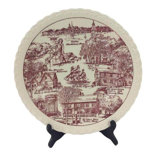 Vintage Salem, Massachusetts Souvenir Plate For Sale