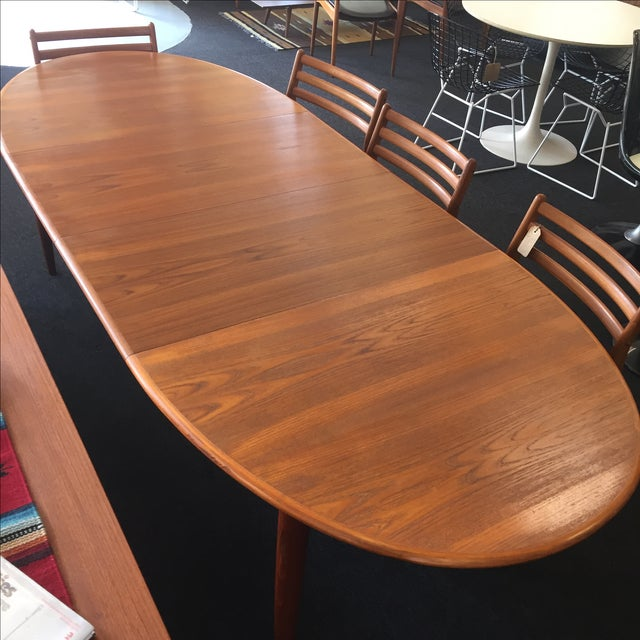 Danish Teak Dining Table - Image 8 of 9