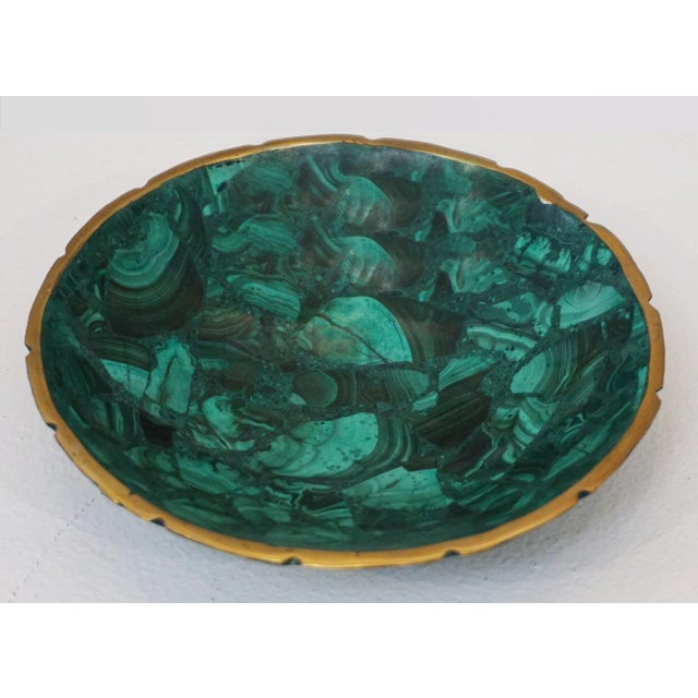Small Malachite Bowl For Sale In Palm Springs - Image 6 of 6