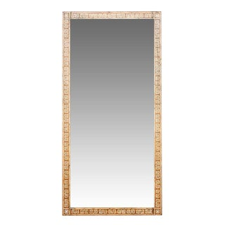 Grand Inlaid Meandros Geometric Mirror For Sale