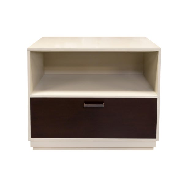 Not Yet Made - Made To Order Minimalistic Gray Maple Filing Cabinet For Sale - Image 5 of 7
