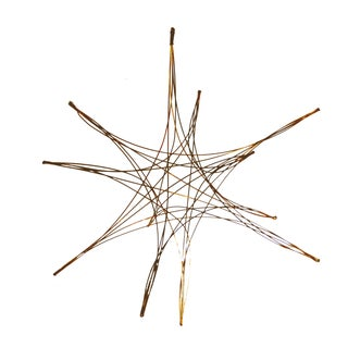 Vintage Brass Starburst Mobile Sculpture