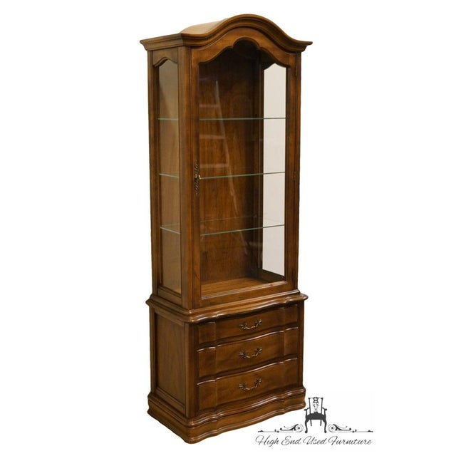 """French Hammary Country French 26"""" Bonnet Top Display Curio Cabinet For Sale - Image 3 of 12"""