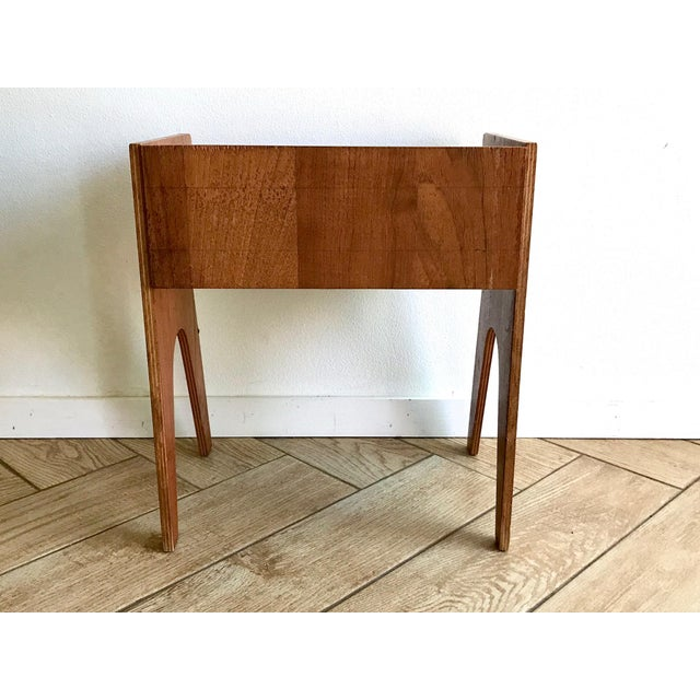 1960s Mid Century Modern Small Side Table Nightstand For Sale In San Diego - Image 6 of 11